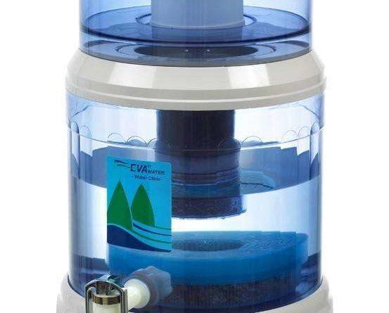 Une fontaine d'eau filtrante