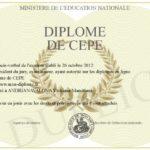 Le «Certificat d'Etudes Primaires Elementaires»