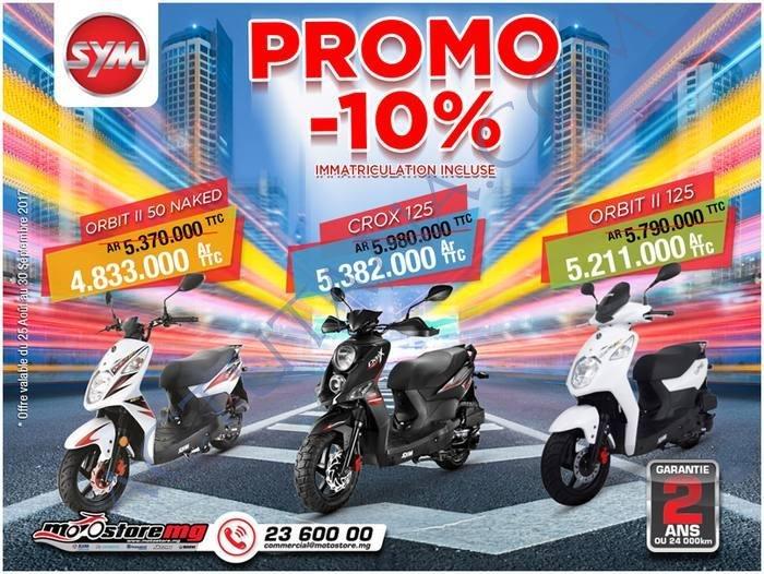 -10% sur les scooters chez Motostore Alarobia, jusqu'au 30 Septembre