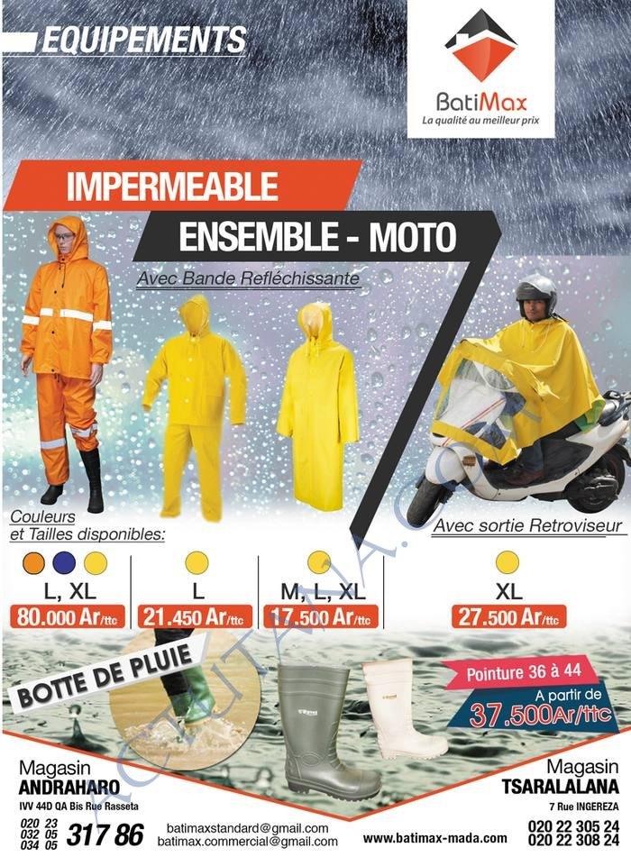 Amis motards, la saison des pluies arrive, équipez vous chez Batimax