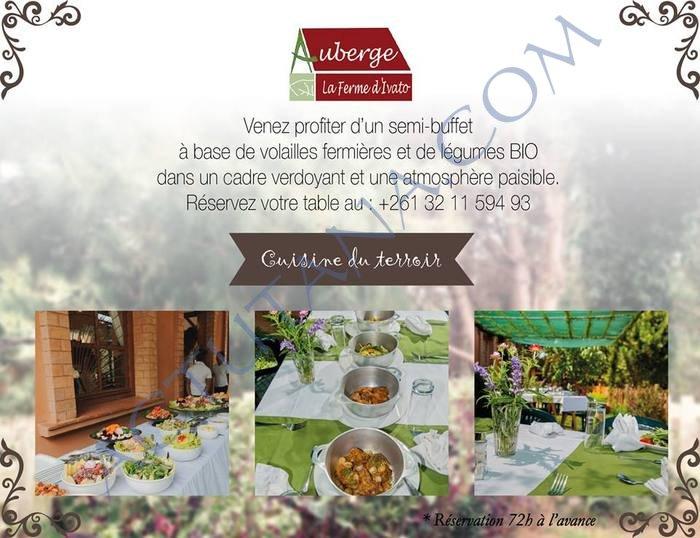 Auberge de la ferme d'Ivato : légumes bio, volailles fermières, cuisine de terroir