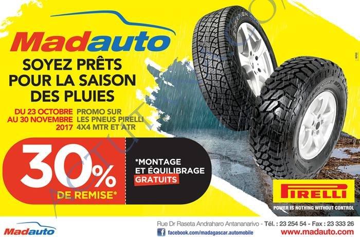 -30% sur les pneumatiques chez Madauto
