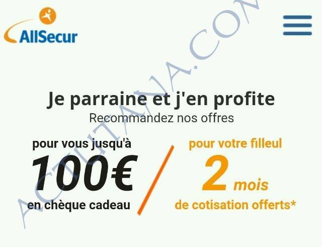 Bon plan assurance AllSecur : 100€ de bons d'achat