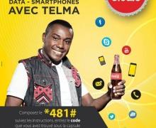Gagnez des SMS, crédits appel, data avec Telma et Coca-Cola